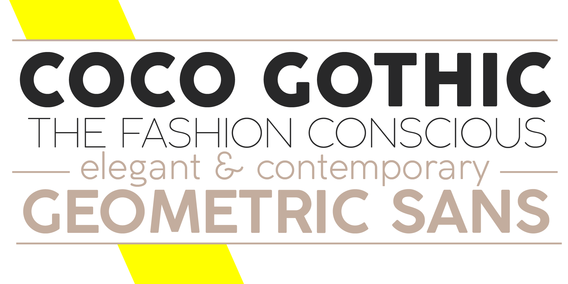 Coco Gothic x-height and caracteristics